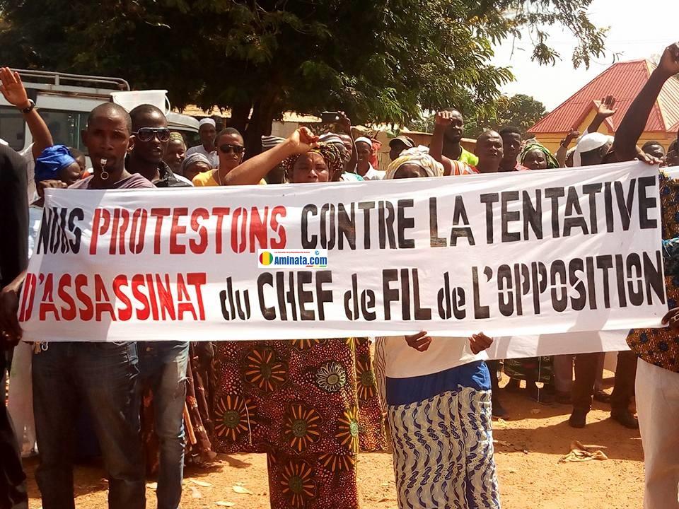 Manifestation de soutien à Cellou à Dinguiraye