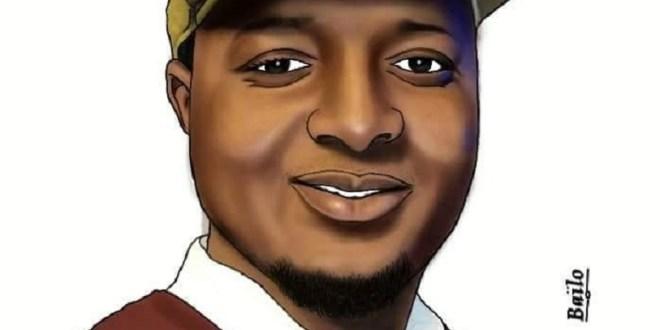 Caricature du jeune écrivain Elhadj Ousmane Baldé