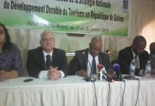 Le ministre Thierno Ousmane Bah lors de l'atelier sur l'élaboration d'une Stratégie Nationale du Développement Durable du tourisme