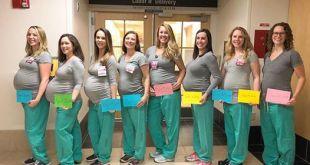 Ces infirmières d'un service de maternité tombent enceintes en même temps