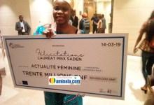 Hassatou Lamara Bah de l'actualité féminine rafle le prix meilleur entrepreneur