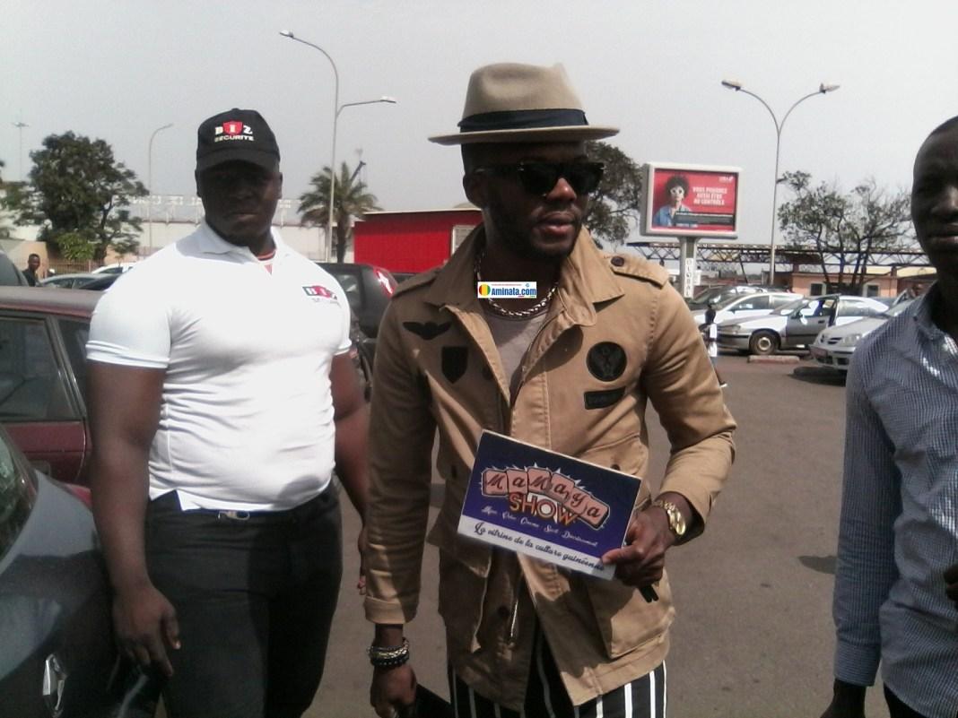 L'artiste ivoirien Kérozen a déposé sa valise ce jeudi 2 mai 2019, à l'aéroport international de Conakry Gbessia