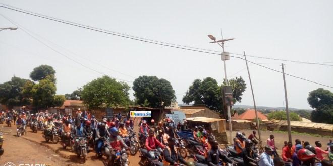 Grève des conducteurs de taxi-moto