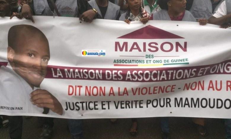 Manifestation des Guinéens devant l'ambassade de France pour réclamer justice après l'assassinat de Mamoudou Barry