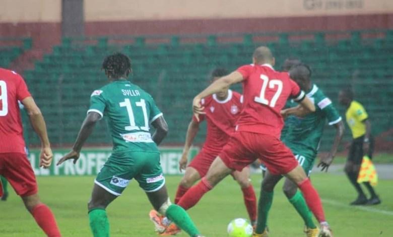 Des joueurs de Hafia FC lors d'un match contre l'Etoile du Sahel-Hafia
