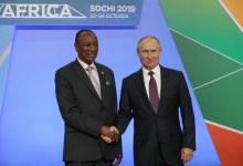 Alpha Condé et Vladmire Poutine à Socthi