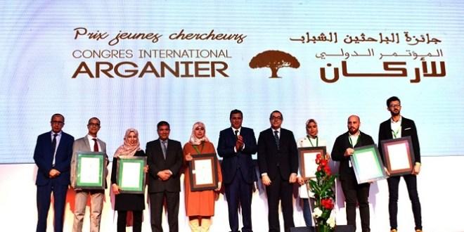 Remise des prix jeunes chercheurs lors du congrès international arganier