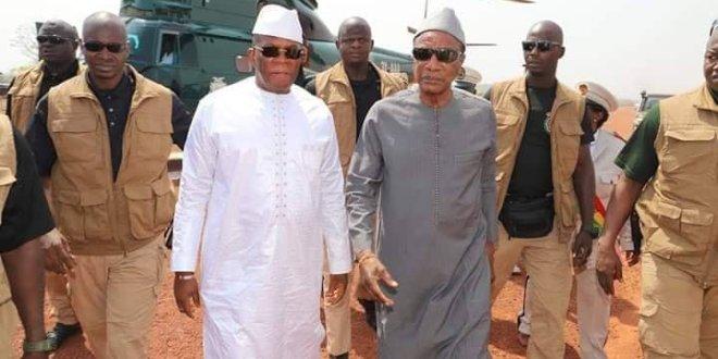 Alpha Condé et Kassory Fofana