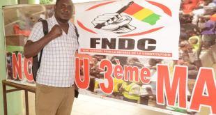 Mouctar Hayré Bah vice coordinateur du mouvement Agir pour Bâtir avec l'UFDG