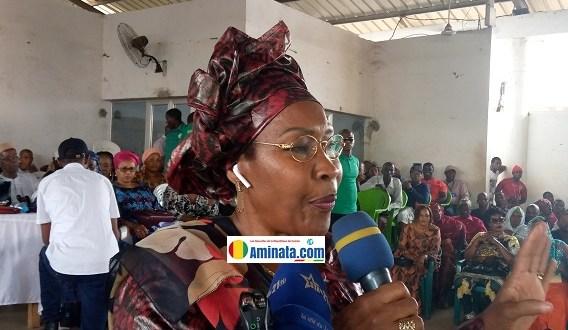 Hadja Maimouna Bah, vice-présidente des femmes de l'Union des Forces Démocratiques de Guinée