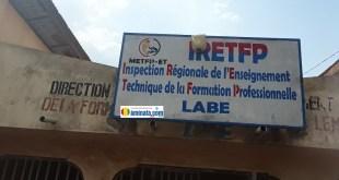 Les locaux de l'Inspection régionale de l'enseignement technique de la formation professionnelle à Labé