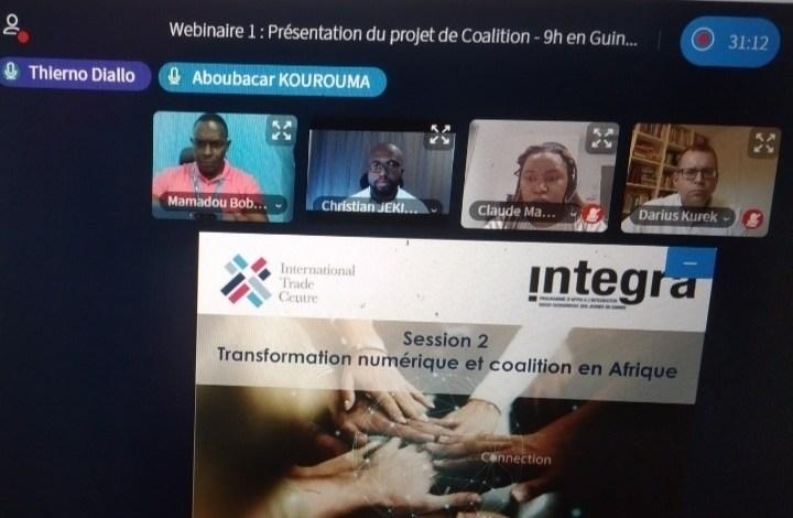 Des participants d'un atelier par visioconférence organisé par le projet Integra