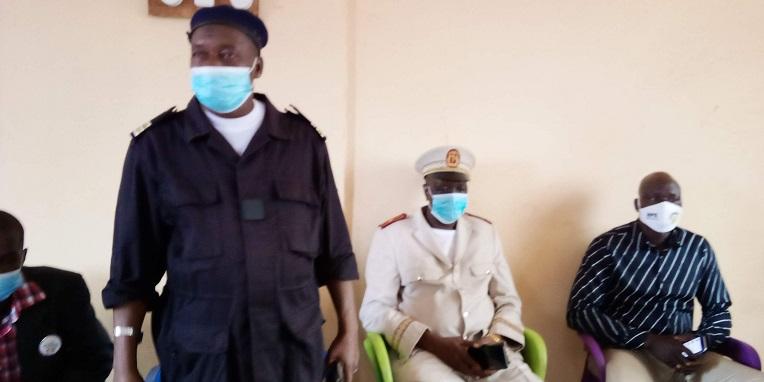Des chefs de police de la préfecture de Siguiri