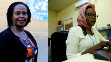 Fiona Beine (à gauche) d'Ouganda et Fatima Khamis du Soudan