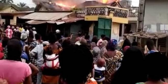 Incendie de la maison de la père de Yéro Baldé