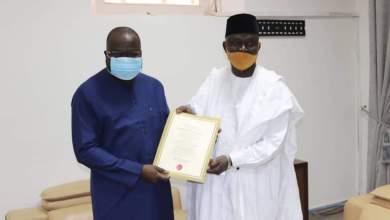 AE. Ibrahima Khalil KABA a reçu en audience le nouvel ambassadeur de la République Fédérale du Nigéria