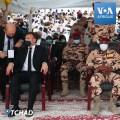 Macron avec le fils d'Idriss Déby