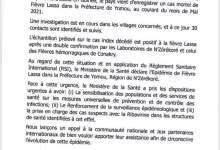 L'épidémie de fièvre Lassa en Guinée : Déclaration du ministre de la santé
