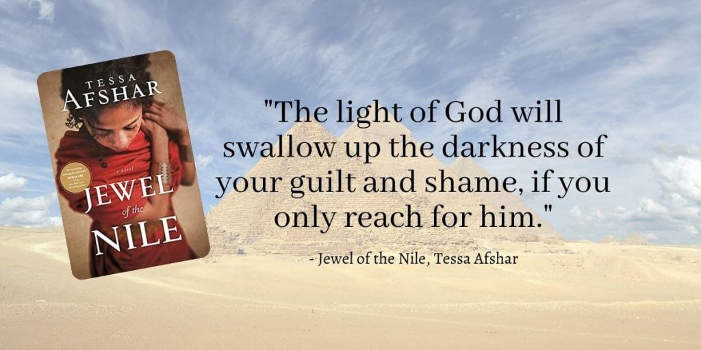 Jewel of the Nile by Tessa Afshar tells the story of Chariline, who had been raised as an orphan, and Theo, a Christian merchant.