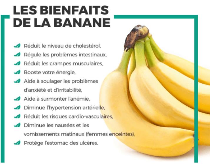 bienfaits bananes