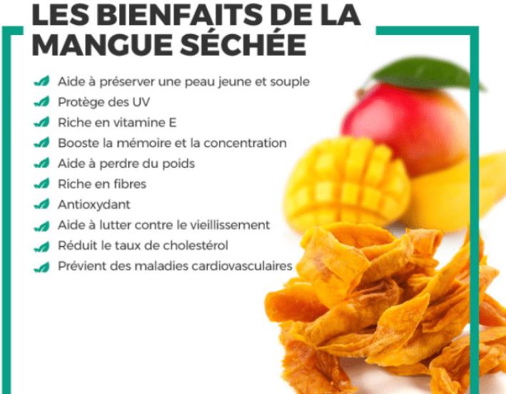 les bienfaits de la mangue séchée