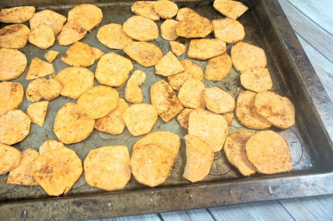Roasting Sweet Potato Chips