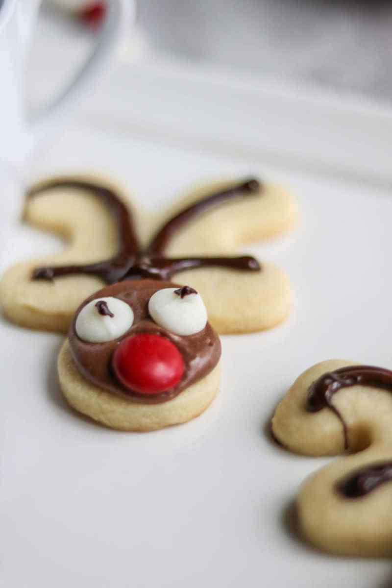 Reindeer Sugar Cookies: A festive and easy spin on Sugar Cookies.