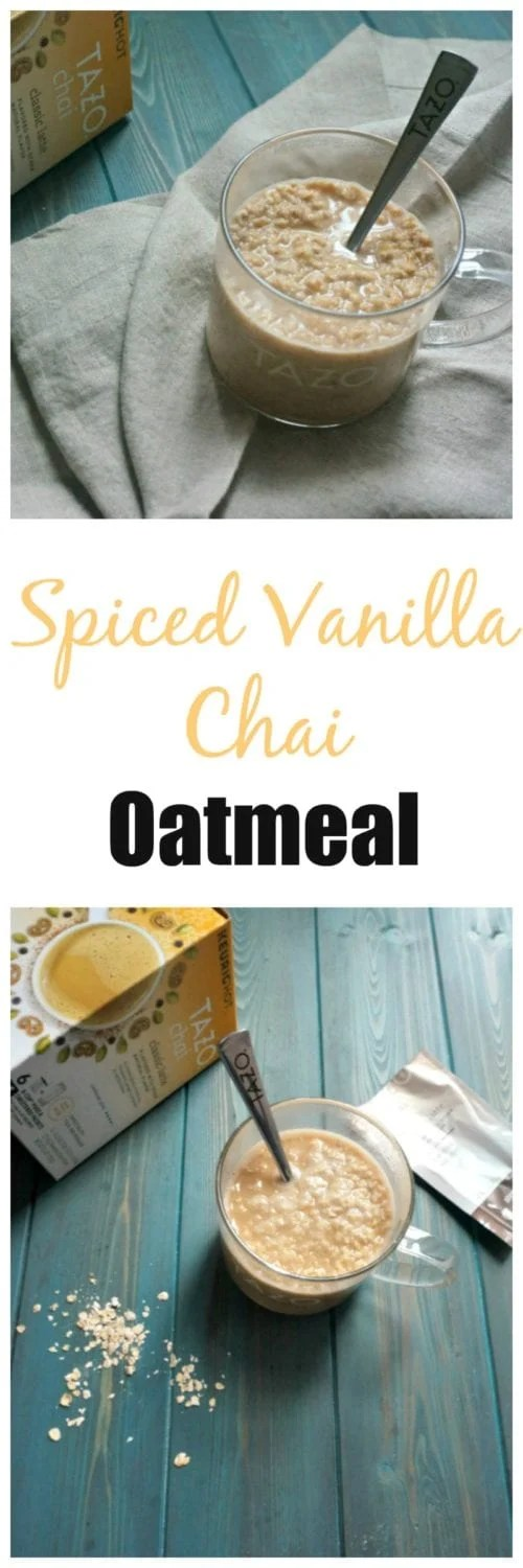 Spiced Vanilla Chai Oatmeal: With the push of a button, be swept away on a culinary adventure to India as you dive into a creamy cup of oatmeal perfectly flavored with a blend of black tea, cinnamon, ginger, cardamom and vanilla. #SweetMeetsSpicy, #ChaiLatte, #KCup, #IC #ad