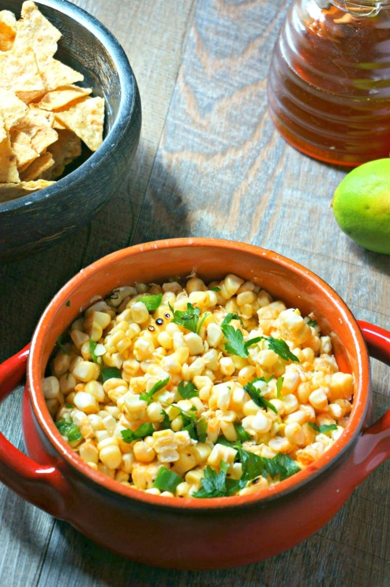 Sweet and Spicy Grilled Corn Salad