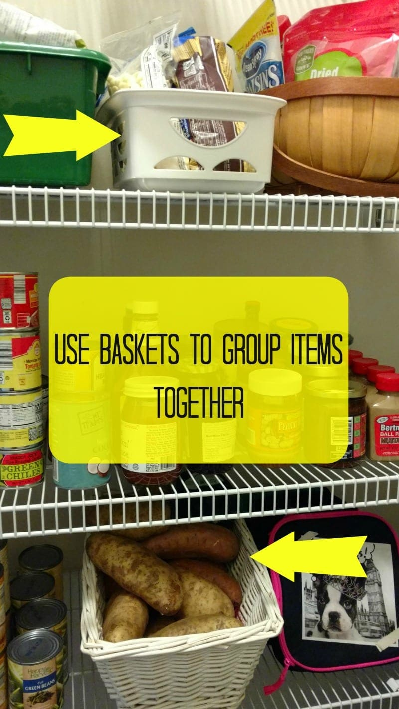 Baskets to keep thing organized