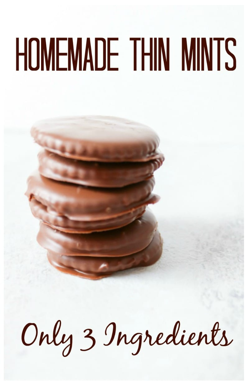 Homemade Thin Mints: 3 simple ingredients come together to create a taste the replicates the famous cookie.
