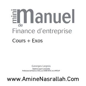 Mini Manuel de Finance d_Entreprise