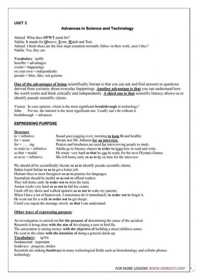 Resume Anglais Pour Bac 2019 Amine Nasrallah