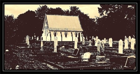 Takaka East church-sepia