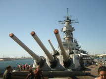 the big guns - Each gun weighs 230,000 pounds, or about as much as a space shuttle.