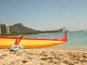 Waikiki Beach with Diamondhead in the background