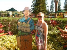 Hanging with a pineapple worker