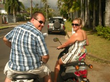 scootin round the island! So much fun!