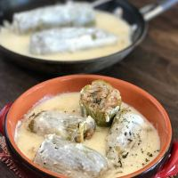 How to make stuffed zucchini in yogurt sauce aka Kousa bel laban