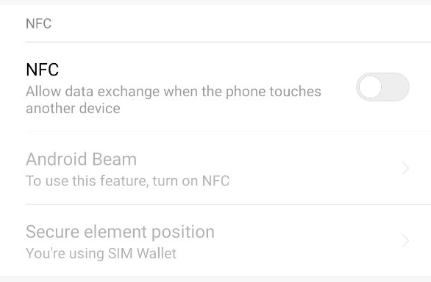 cara disable nfc android