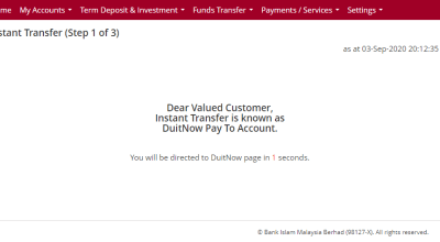 instant transfer duitnow