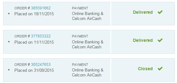 Antara transaksi yang telah saya lakukan pada bulan November