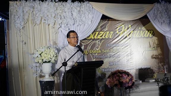 Majlis Perasmian Bazar Warisan oleh Pengerusi Perbadanan Putrajya