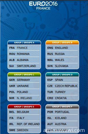 EURO Schedule