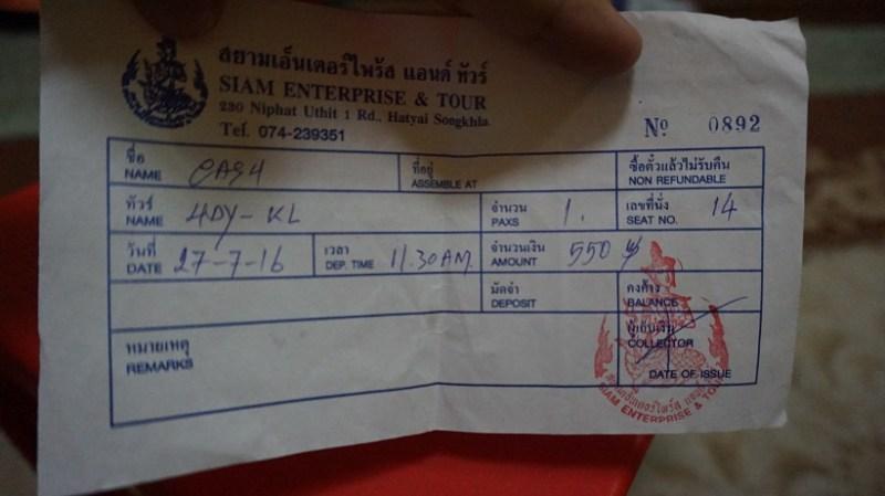 tiket bas thai