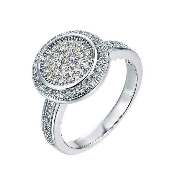 טבעת כסף עדינה משובצת אבני זרקון