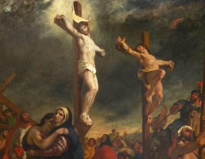 Restauration du tableau Le Christ sur la croix d'Eugène Delacroix