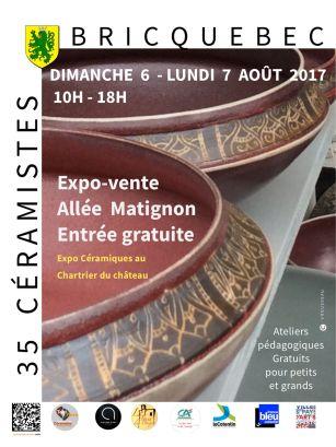 Affiche de l'exposition Marché des potiers Bricquebec 2017