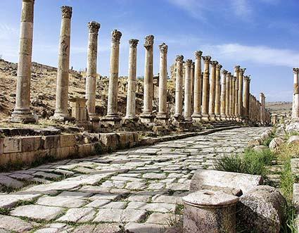 Photo de la ville de Pétra en Jordanie