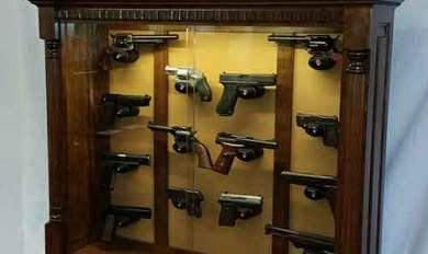 Wood Wall Mount Rifle Display Case Use Wood